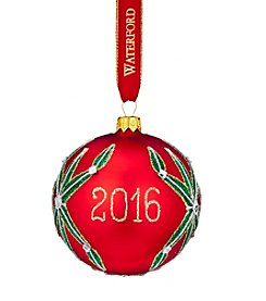 Waterford® Lismore 2016 Dated Ball Ornament