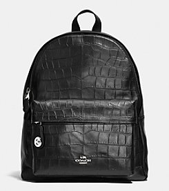 COACH CAMPUS BACKPACK IN CROC EMBOSSED LEATHER