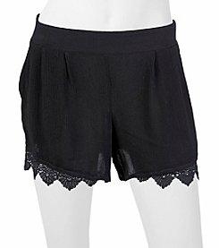 A. Byer Solid Lace Trim Shorts