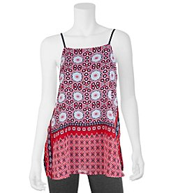 A. Byer Printed Square Neck Tank