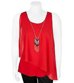 A. Byer Solid Asymmetrical Top