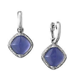 Effy® Serenity Collection Quartz And 0.25 Ct. T.W. Diamond Earrings In 14K White Gold