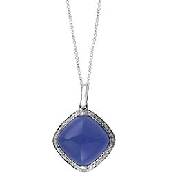 Effy® Serenity Collection Quartz And 0.18 Ct. T.W. Diamond Pendant In 14K White Gold