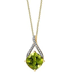 Effy® Olivia Collection Peridot Pendant In 14k Yellow Gold
