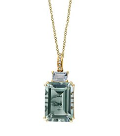 Effy® Gemma Collection Green Amethyst Pendant In 14k Yellow Gold