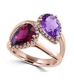 Effy® Bordeaux Collection Amethyst And Rhodolite Ring In 14K Rose Gold