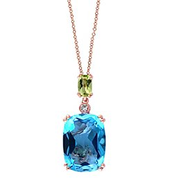 Effy® Ocean Bleu Collection Blue Topaz Pendant In 14k Rose Gold