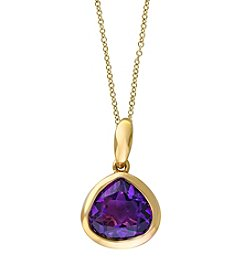 Effy® Viola Collection Amethyst Pendant In 14k Yellow Gold