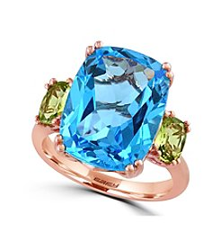 Effy® Ocean Bleu Collection Blue Topaz Ring In 14k Rose Gold