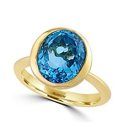 Effy® Ocean Bleu Collection Blue Topaz Ring In 14k Yellow Gold