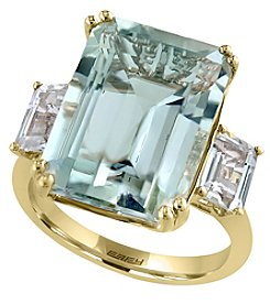 Effy® Gemma Collection Green Amethyst Ring In 14k Yellow Gold
