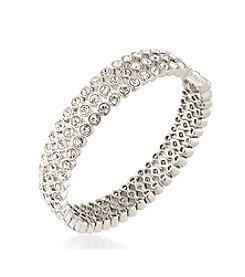 Carolee® Silvertone East Side Cuff Bracelet