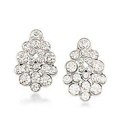Carolee® Silvertone East Side Clip On Earrings