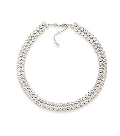 Carolee® Silvertone East Side Collar Necklace