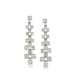 Carolee® Silvertone East Side Linear Pierced Earrings
