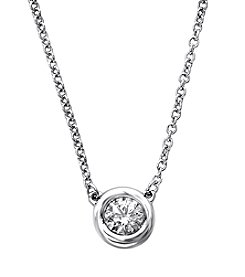 Effy® 0.25 Ct. T.W. Diamond Necklace In 14k White Gold