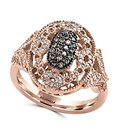 Effy® 0.36 Ct. T.W. Diamond Ring In 14K Rose Gold