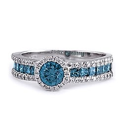 Effy® 1.10 Ct. T.W. Diamond Ring In 14K White Gold