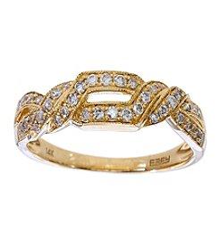 Effy® 0.25 Ct. T.W. Diamond Ring In 14k Yellow Gold