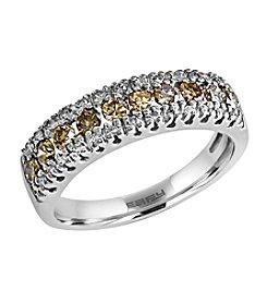 Effy® Espresso Collection 0.76 Ct. T.W. Diamond Ring In 14k White Gold