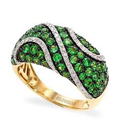 Effy® Tsavorite And 0.24 Ct. T.W. Diamond Ring In 14K Yellow Gold