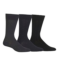 Polo Ralph Lauren® Men's 3-Pack Cotton Patterned Crew Socks