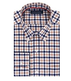 Tommy Hilfiger® Men's Checked Long Sleeve Button Down Collar Dress Shirt