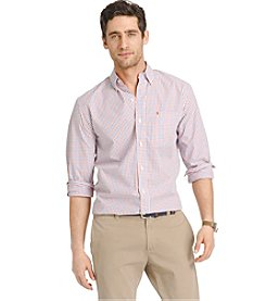 Izod® Men's Long Sleeve Tattersall Button Down Shirt