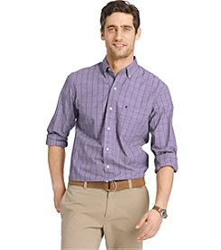 Izod® Men's Long Sleeve Essential Checked Button Down Shirt