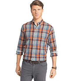 Izod® Men's Long Sleeve Medium Plaid Button Down Shirt