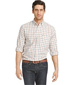 Izod® Men's Long Sleeve Windowpane Long Sleeve Button Down Shirt