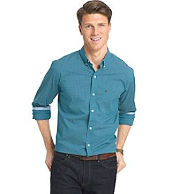 Izod® Men's Long Sleeve Advantage Gingham Button Down Shirt