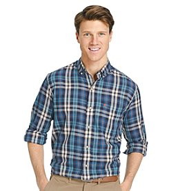 Izod® Men's Medium Plaid Long Sleeve Button Down Shirt