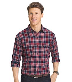 Izod® Men's Long Sleeve Harbor Twill Button Down Shirt