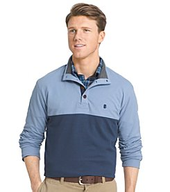 Izod® Men's Light Colorblock Mock Neck Pullover
