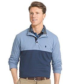 Izod® Men's Light Colorblock Mock Neck Pullover