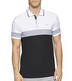 Calvin Klein Men's Liquid Cotton Short Sleeve Colorblock Tee