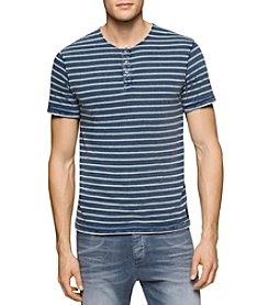 Calvin Klein Jeans® Men's Short Sleeve Striped Henley Tee