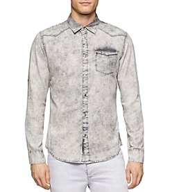 Calvin Klein Jeans® Men's Denim Wave Long Sleeve Button Down Shirt
