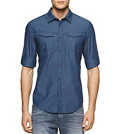 Calvin Klein Jeans® Men's Roll Tab Sleeve Button Down Shirt
