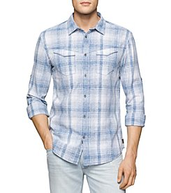 Calvin Klein Jeans® Men's Long Sleeve Check Button Down Shirt