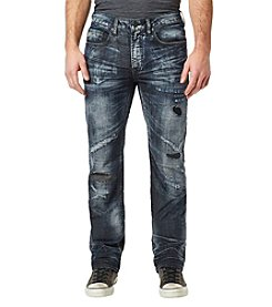 Buffalo by David Bitton Men's Driven X Straight Destructed Denim Jeans