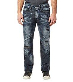 Buffalo by David Bitton Men's Driven X Straight Destructed Denim Jeans