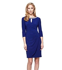 Alex Evenings® Keyhole Jewled Neckline Dress