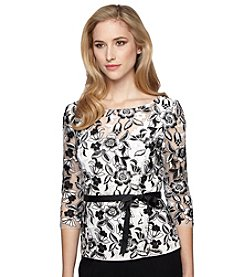 Alex Evenings® Embossed Floral Blouse