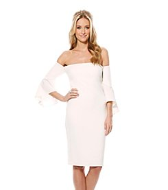 Laundry by Shelli Segal Crepe Off The Shoulder Dress