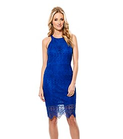 Laundry by Shelli Segal® Lace Cutaway Short Dress