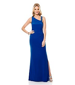 Laundry by Shelli Segal® Beaded Strap Gown