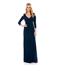 Laundry by Shelli Segal Cold Shoulder Gown Dress