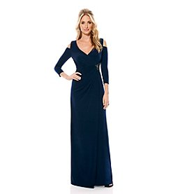 Laundry by Shelli Segal® Cold Shoulder Gown Dress